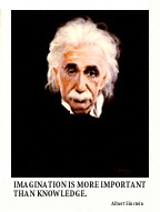 Albert Einstein Fine Art Global PathMarker Poster Print